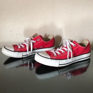 Red All Star Converse Low Top